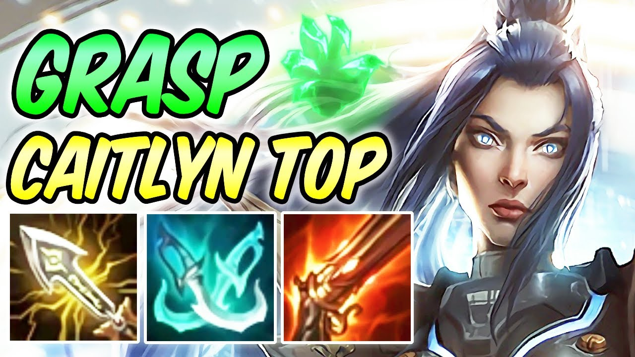 Grasp Of The Undying Pulsefire Caitlyn Top Full Crit Build Runes League Of Legends S10 Youtube