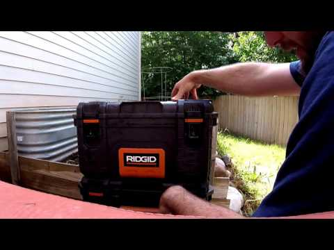 RIDGID Pro Tool Box Review One Tuff Tool Box! Water Proof Weather Proof Test 22 in. 25in.