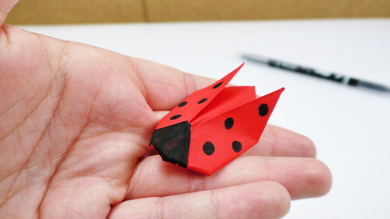 marien k fer origami falten f r kinder deko geschenk youtube. Black Bedroom Furniture Sets. Home Design Ideas