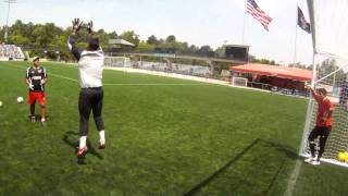 Atlanta Silverbacks goalkeepers workout, featuring Jimmy Maurer (currently New York Cosmos)