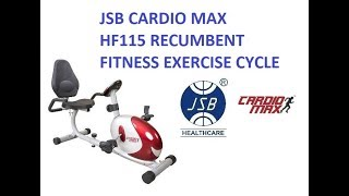 magnetic recumbent bike for fitness exercise cycle workout jsb cardio max hf115 video demonstration