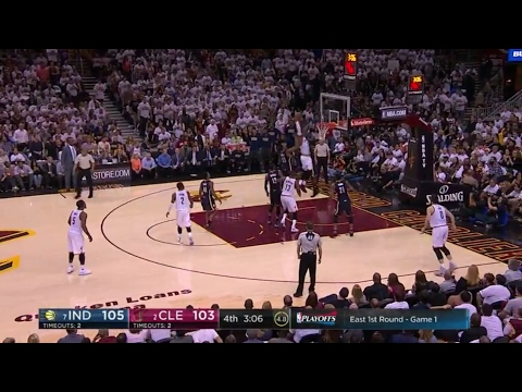 LeBron James Dunk vs Indiana Pacers Playoffs April 2017