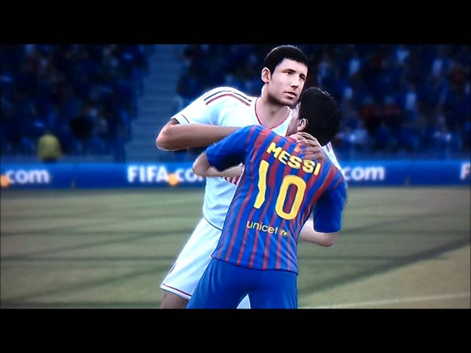 Fifa 12 Funny Impact Engine Effect Is Messi Gay Looks -1229