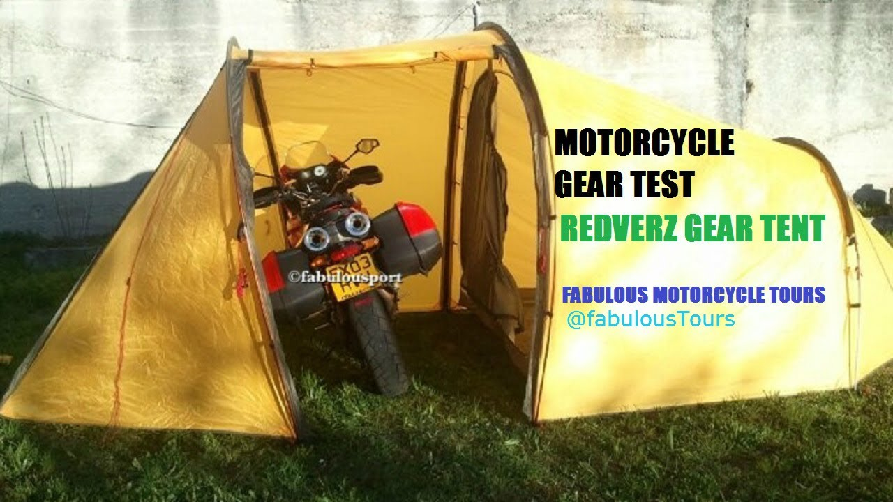 Motorcycle Touring & Camping Gear Redverz Tent Test Review Fabulous ...