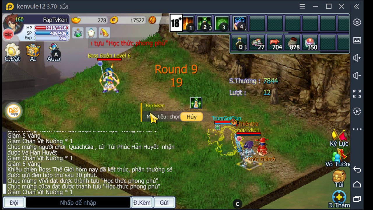 Hướng Dẫn Đánh Boss Guild Lv Cao Ts online dzogame