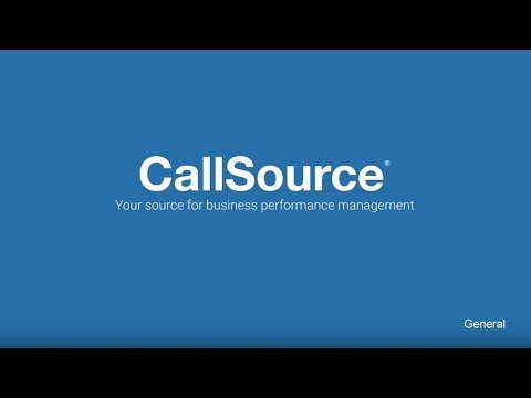 CallSource - Your source for business performance management.