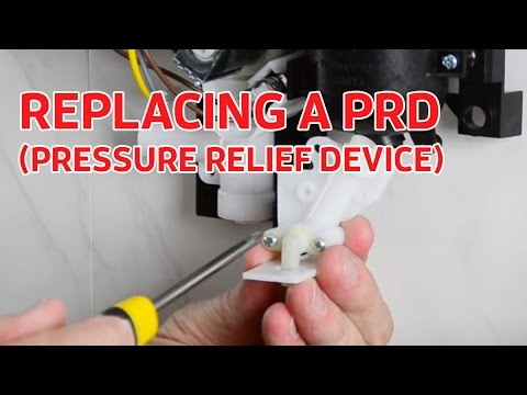 Electric Showers: Replacing Pressure Relief Device (part no.82800450) on a Triton T80z