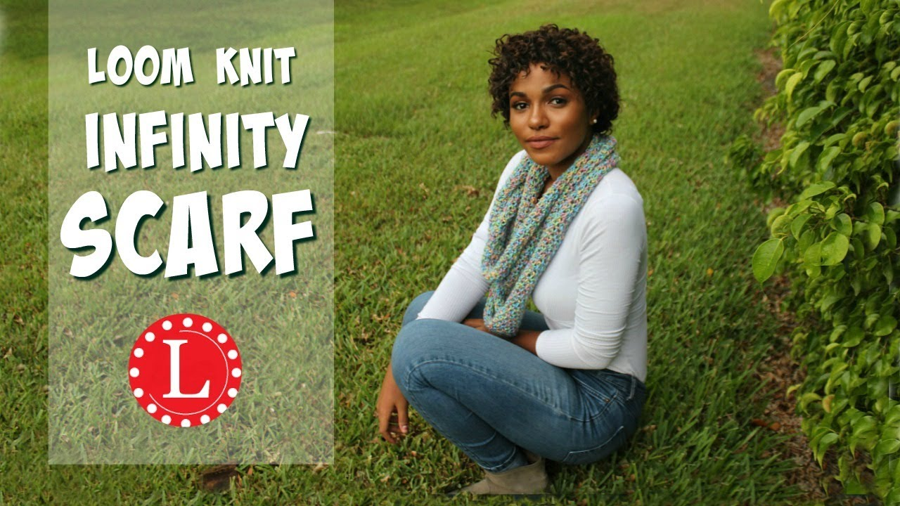 Loom Knit Infinity Scarf on Round Loom Mock Crochet Stitch - Easy ...