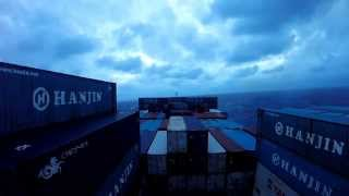 Cargo ship travel: Rolling at sea