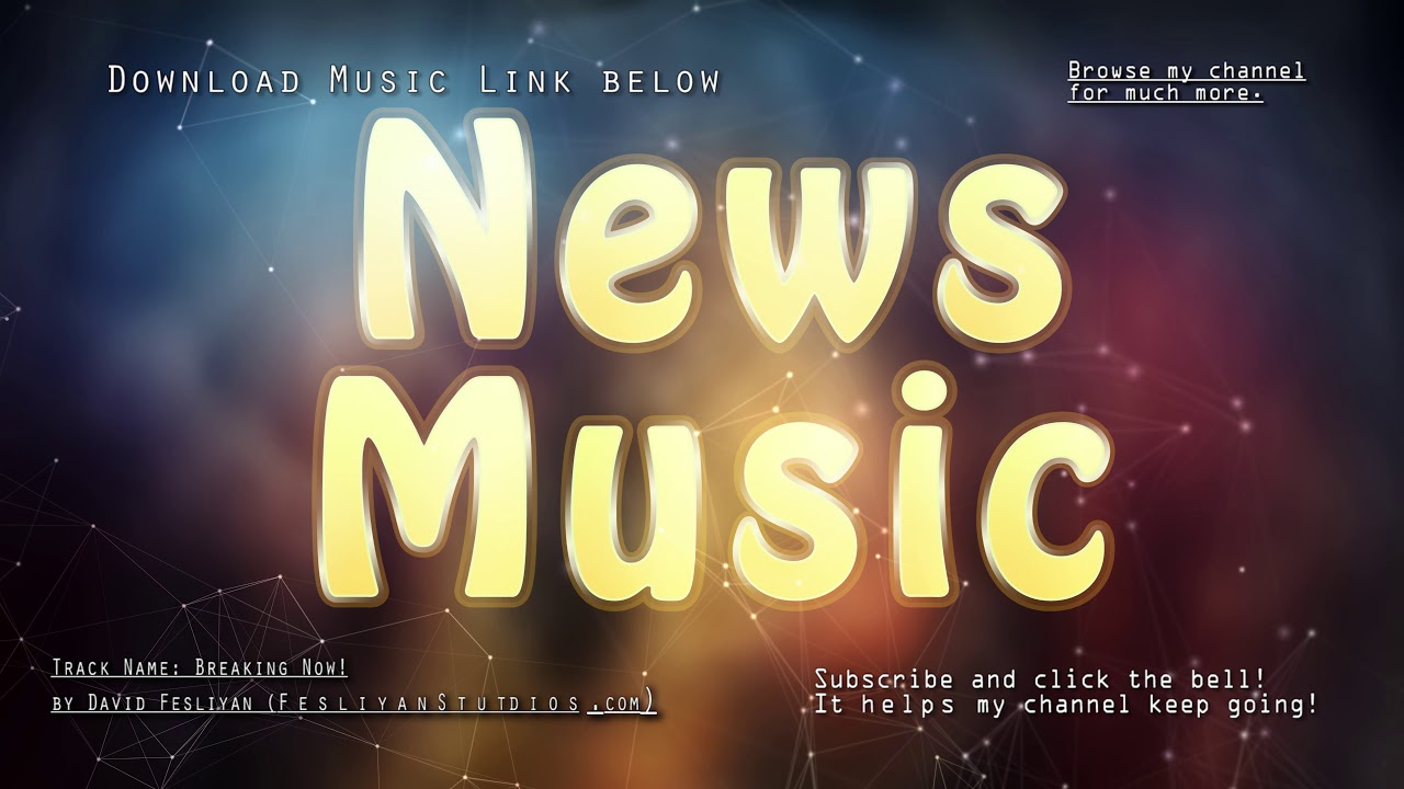 Background music for news intro -