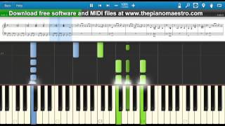 Frozen  - Madonna -- piano lesson with Synthesia