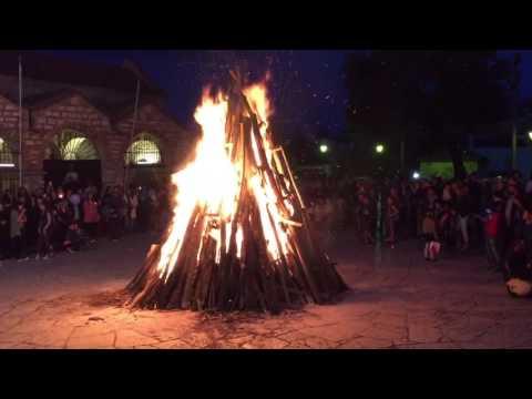 Αγία Θεοδώρα Άρτας - Το έθιμο της φωτιάς