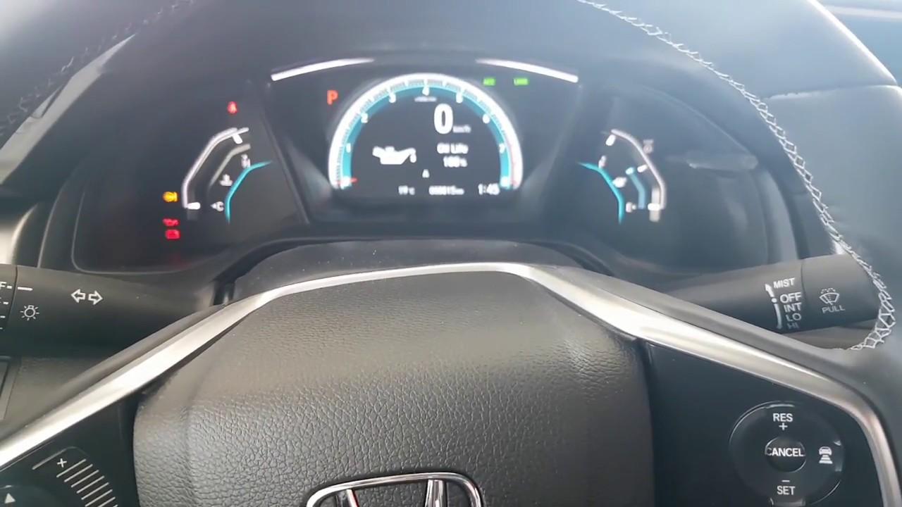 2016 2018 Honda Civic How To Check Your Oil Life And See What Next Maintenance Is