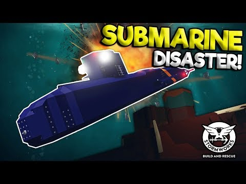 SUBMARINE TREASURE HUNT ENDS IN DISASTER! - Stormworks Multiplayer Gameplay - Sinking Ship Survival