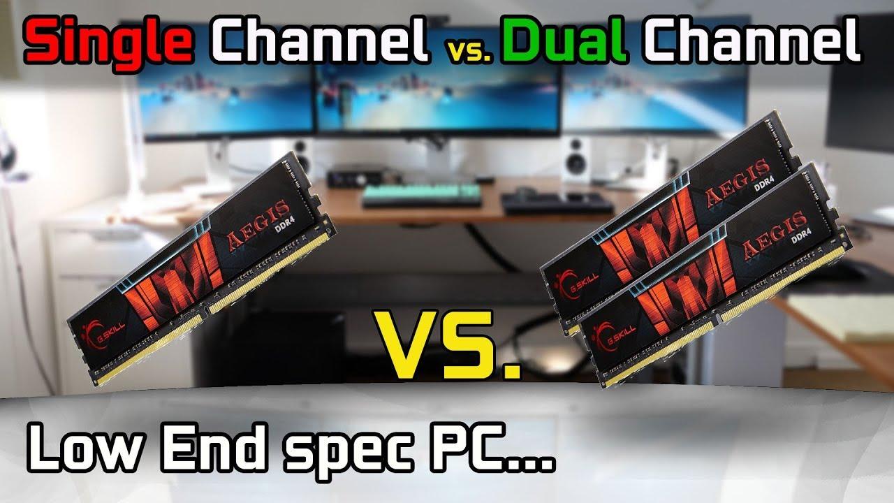egységes vs dual channel benchmark