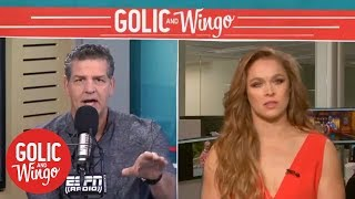 Ronda Rousey talks WWE debut, Wrestlemania 34 and more | Golic & Wingo | ESPN