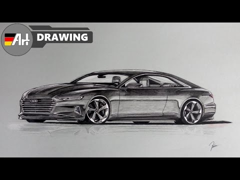 How I draw a car (Audi Prologue concept) - speed drawing