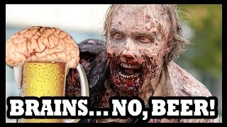 Walking Dead Beer Made with Real Brains!?! - Food Feeder