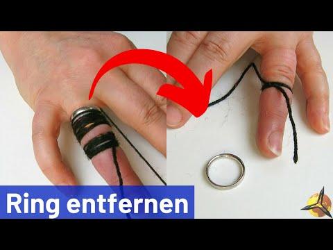 Ring vom Finger entfernen / abziehen (Fadentrick)