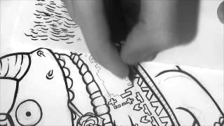 Иллюстрация Добрый носорог (полный процесс создания)