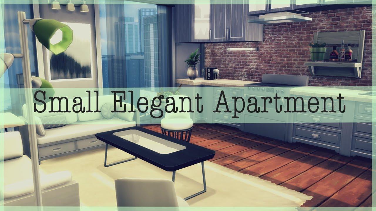 The Sims 4 Apartment Decoration | Small Elegant Apartment