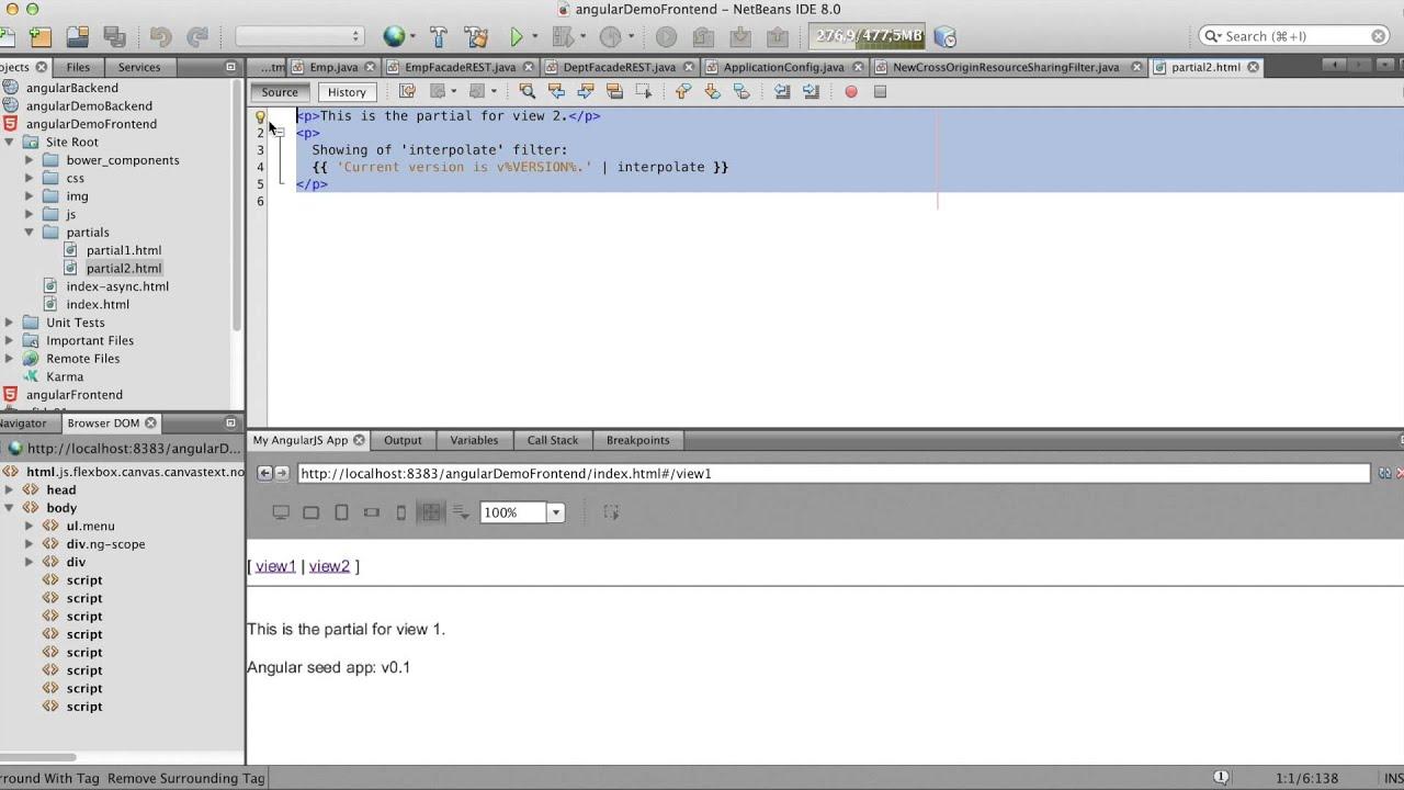 Simple Example Angularjs And Javaee Youtube