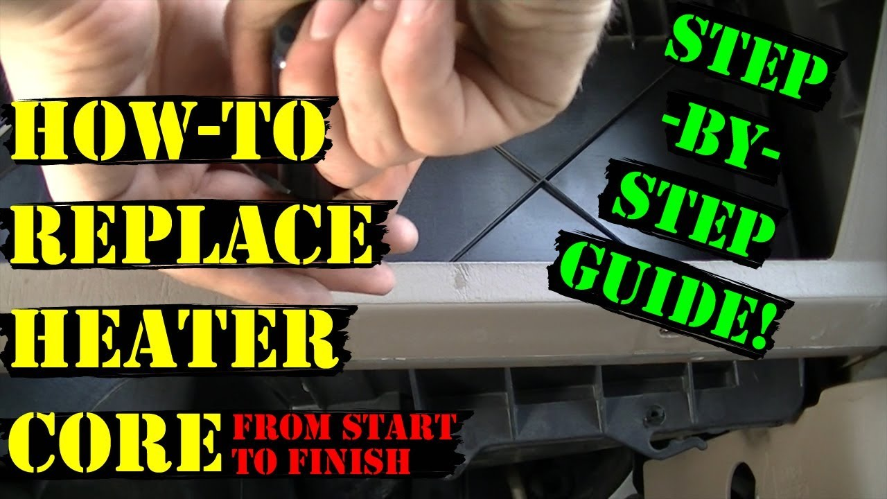 99 07 ford super duty heater core replacement how to