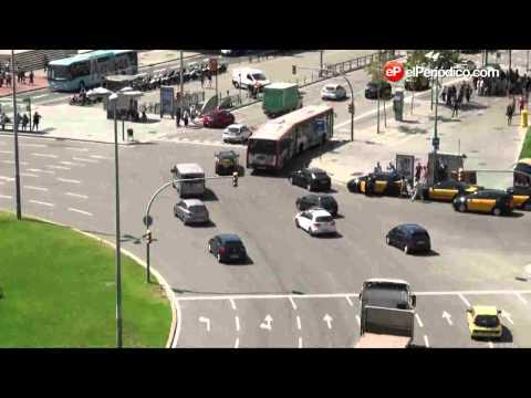Circulación en plaza de Espanya