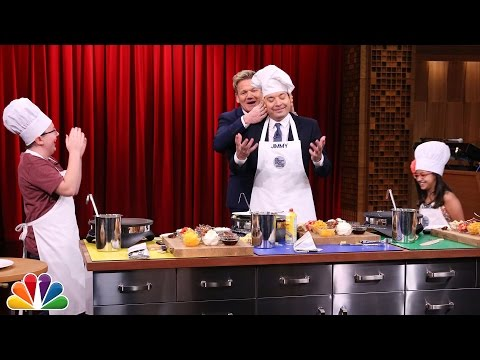 Tonight Show MasterChef Junior Cook-Off with Gordon Ramsay