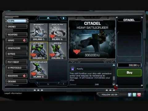 DarkOrbit New ships Citadel,Aegis,SpearHead