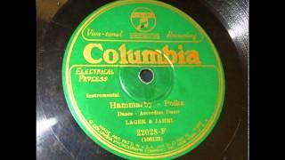 HAMMARKYLÄN POLKKA (HAMMARBY POLKA), John Lager ja Edwin Jahrl banjon säestyksellä v.1925