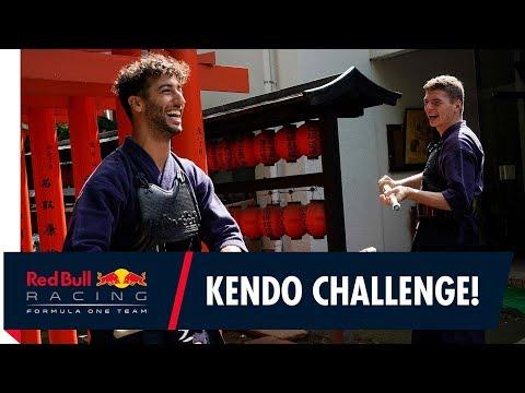 Max Verstappen and Daniel Ricciardo's Kendo Challenge!