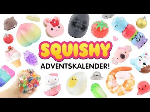 SQUISHY ADVENTSKALENDER!!! Magnetische Squishies! Süße Kawaii Deko & Spielzeug! Deutsch