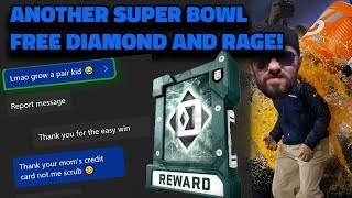 *MY OPPONENT RAGES* ANOTHER SUPER BOWL FOR A FREE DIAMOND PLAYER | MADDEN 19 GAME