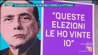 Tagadà - Elezioni Sicilia, Musumeci verso la vittoria (Puntata 06/11/2017)