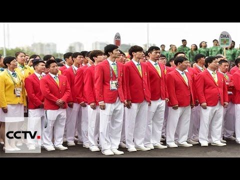 Chinese Olympic team raises flag at Rio Olympics Athletes Village