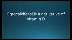 How to pronounce ergocalciferol (Calciferol) (Memorizing Pharmacology Flashcard)