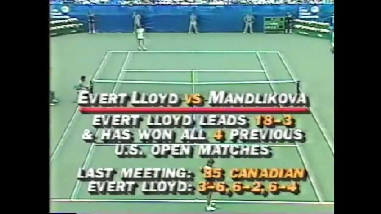 Chris Evert Lloyd vs Hana Mandlikova 1985 US Open 1 4