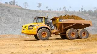 SMT customer going for Gold in Ghana using Volvo Construction Equipment machines & Volvo trucks