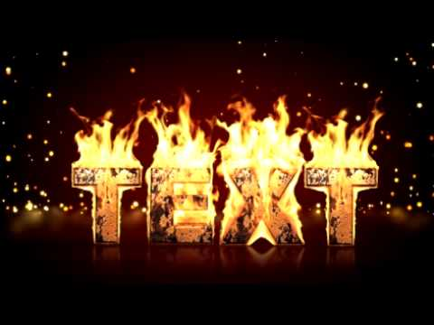 Create real fire text in after effects (After effects Template ...