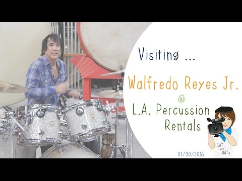 Visiting Walfredo Reyes Jr. at L.A. Percussion Rentals