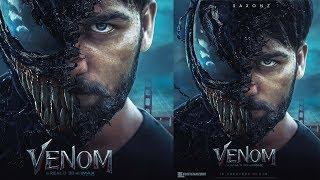 How to edit Venom Movie poster  design with Photoshop  editing tutorial