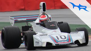 1974 Brabham BT42 In Action At Spa (Rough Cosworth F1 Sound)