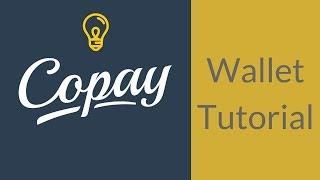 Copay wallet tutorial