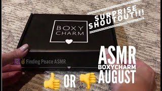ASMR Unboxing Boxycharm August / Shocking Lipstick ! (Shoutout)