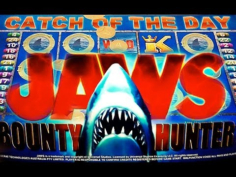 Aristocrat - JAWS - The Bounty Hunter - Slot Machine Bonus - 동영상
