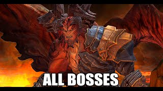 Darksiders Warmastered Edition - All Bosses (With Cutscenes) HD