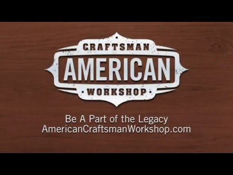 Welcome to the american craftsman workshop youtube for Craftsman workshop