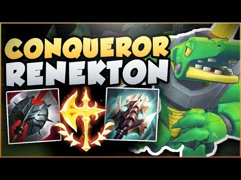 JUST HOW OP IS THE NEW CONQUEROR RENEKTON?? RENEKTON SEASON 8 TOP GAMEPLAY! - League of Legends