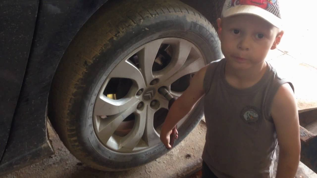 замена тормозных колодок ситроен replacement brake pads Citroen